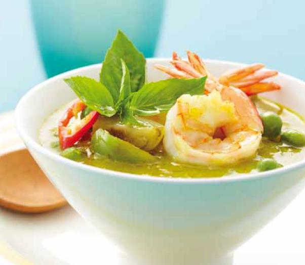 Lekker pittig… daarom juist gezond! Gaeng Kiew Whaan Goong